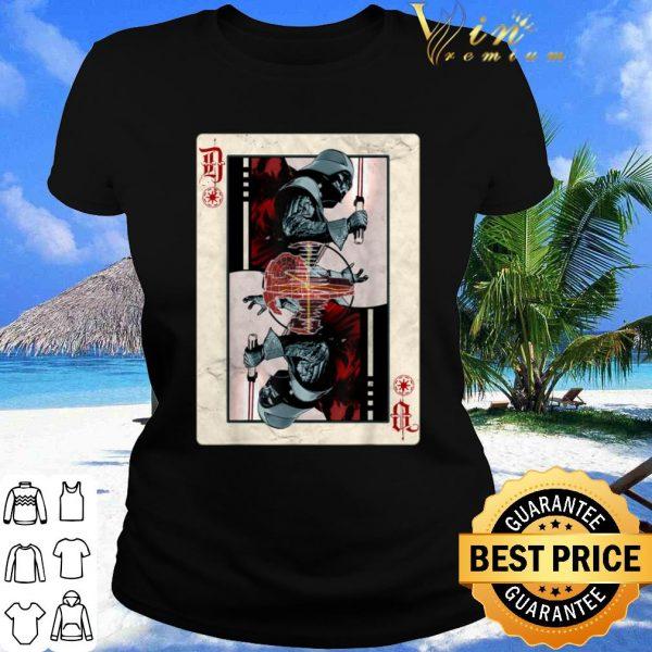Pretty Star Wars Darth Vader Death Star Playing Card shirt