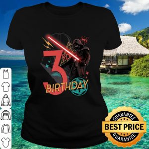 Best Star Wars Darth Vader 3rd Birthday Abstract Background shirt 1