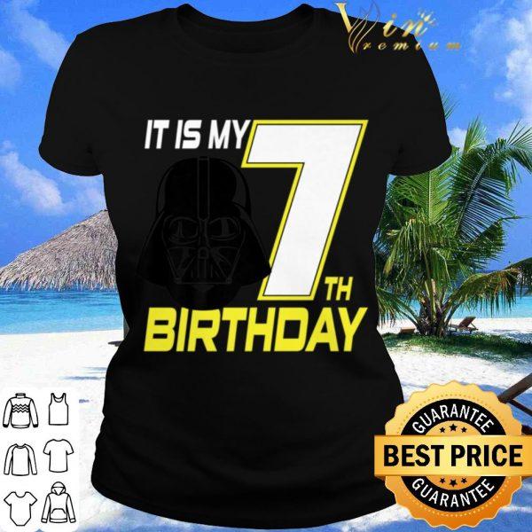Pretty Star Wars Darth Vader 7th Birthday shirt