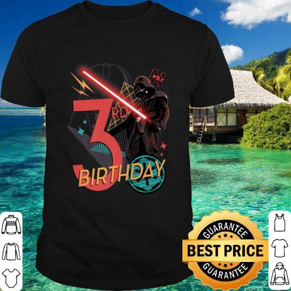 Best Star Wars Darth Vader 3rd Birthday Abstract Background shirt