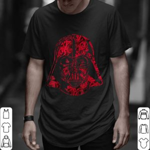 Awesome Star Wars Darth Vader Helmet Full Of Roses Graphic shirt