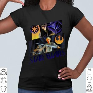 Awesome Star Wars Darth Vader Luke Chewie Retro Concept Art shirt