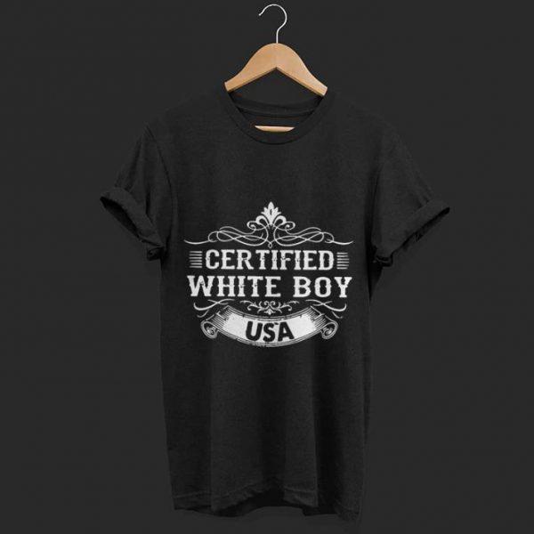 Certified white boy USA shirt