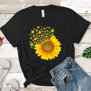Sunflower Marijuana leaf Weed shirt