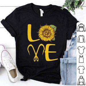 Sunflower love fishing hook shirt