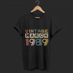 Vintage Retro March 1989 shirt
