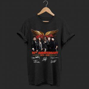 Aerosmith 59th anniversary signatures shirt