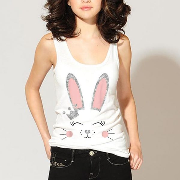 Bunny Face Silver Crown shirt