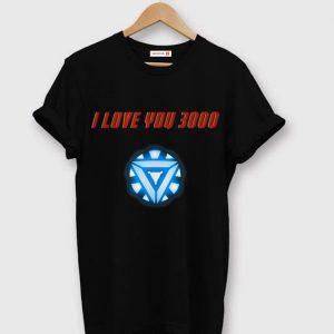 I Love You 3000 Arc Reactor Iron man Marvel shirt
