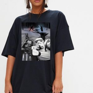 Star wars darth vader and stormtroopers take a selfie shirt 2