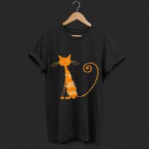 Wet Orange Cat Kitten Kitty Whiskers shirt