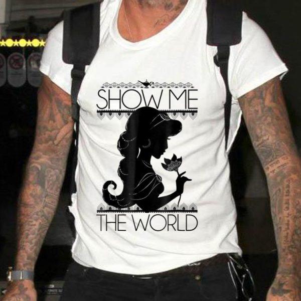 Disney Aladdin Jasmine Show Me The World Silhouette shirt