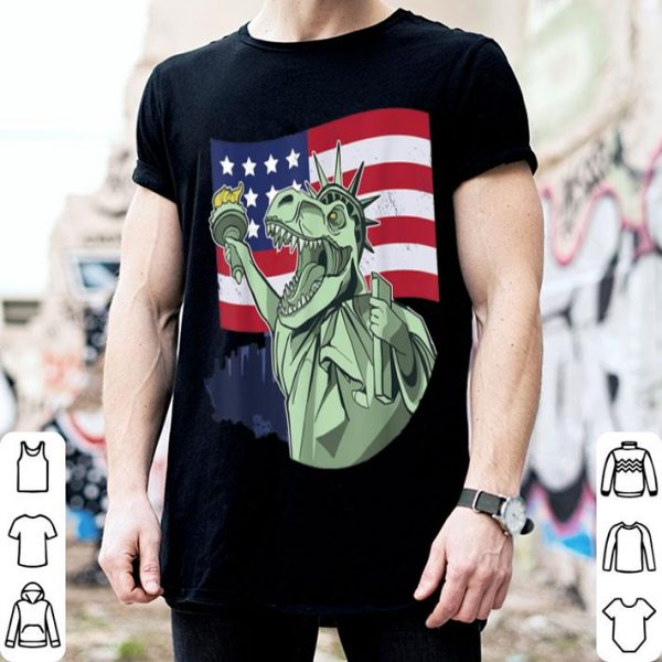 4th July Usa Flag Independence Day Dinosaur T-REX shirt