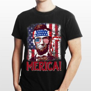 4th Of July Merica Abraham Lincoln American Flag Usa shirt