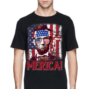 4th Of July Merica Abraham Lincoln American Flag Usa shirt