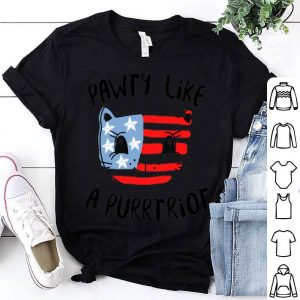 4th of July Girls American Flag Kitty shirt
