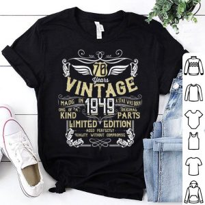 70 Years Vintage Made In 1949 Original Parts Bday shirt