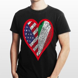 America And Italy Two Countries One Heart shirt