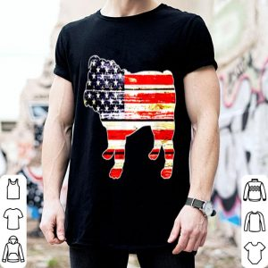America Flag Bulldog 4th Of July Independence Day shirt