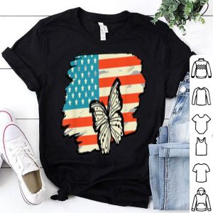 American Butterfly USA Flag 4th of July Insect Lover shirt