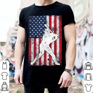 American Flag Baseball 4th July Patriotic shirt
