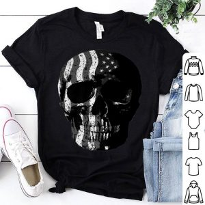 American Flag Skull For Motorcycle And Motocross Biker shirt