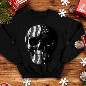 American Flag Skull For Motorcycle And Motocross Biker shirt