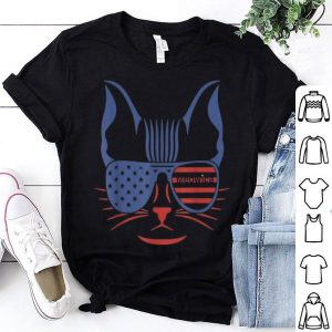 American Patriotic Cat USA Flag MEOWICA shirt