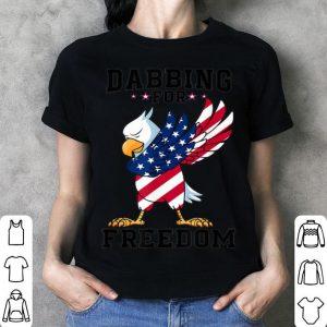 Bald Eagle Dabbing For Freedom USA Flag 4th Of July shirt