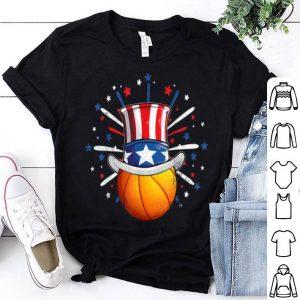 Basketball Ball American Flag Hat Patriotic July 4th shirt