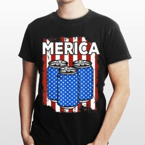 Beer Merica 4Th Of July Patriots American Flag shirt