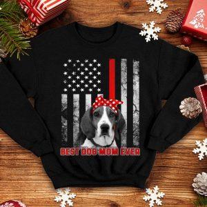 Best Mom Ever American English Coonhound Dog Flag Patriotic shirt