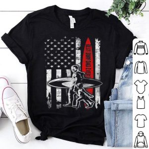 Best Surf Dad Ever American Flag For Fathers Day shirt