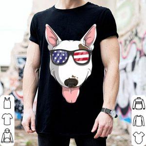 Bull Terrier Dog Patriotic USA 4th of July American Flag shirt