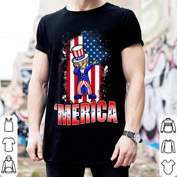 Dabbing Uncle Sam Patriotic 4th July American shirt