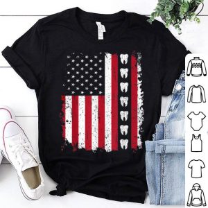Dentist 4th of July Patriotic American Flag shirt