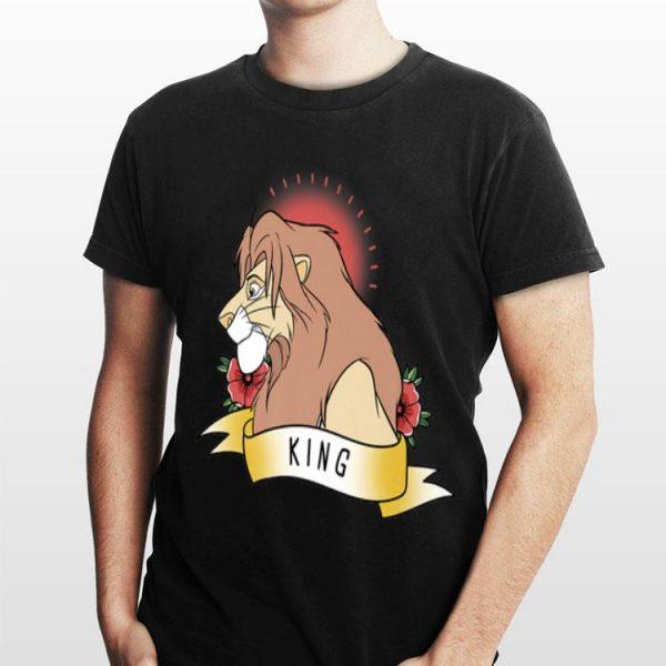 Disney Lion King Simba King Tattoo Yellow shirt