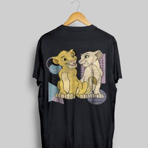 Disney Lion King Simba & Nala Meet Eyes Valentine's shirt
