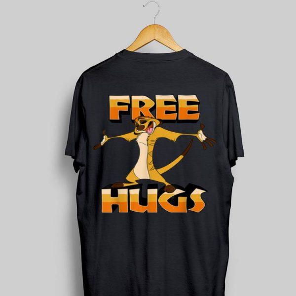 Disney Lion King Timon Free Hugs shirt