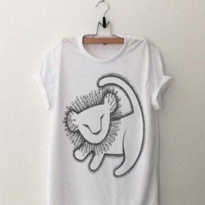 Disney Lion King Young Simba Cave Painting shirt