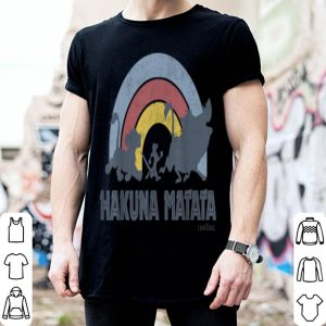 Disney The Lion King Hakuna Matata Distressed Rainbow Logo shirt