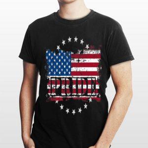 Distressed Us Flag Pride shirt