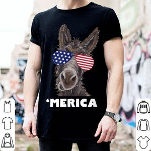 July 4th Donkey Patriotic Sunglass American Flag shirt