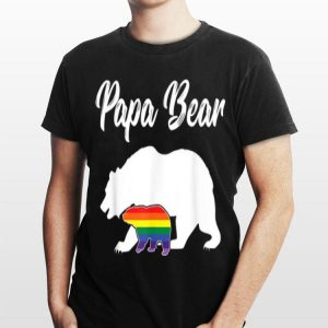 LGBT Dad Papa Bear Gay Pride shirt