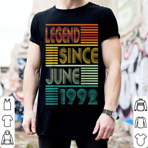 Legend Since June 1992 27th Birthday 27 Years Old shirt