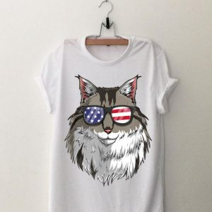 Maine Coon Cat Patriotic Usa 4Th Of July American shirt