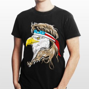 Merica 4th Of July Bald Eagle With Mullet Usa Flag shirt