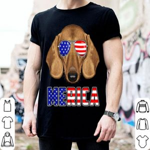 Merica Dachshund 4th Of July USA Flag Patriotic Dog shirt