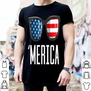 Merica Sunglasses American Flag Patriotic 4th Of July shirt