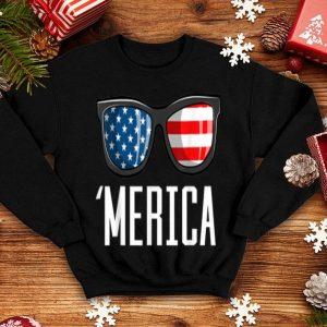 Merica Sunglasses American Flag Patriotic 4th Of July shirt